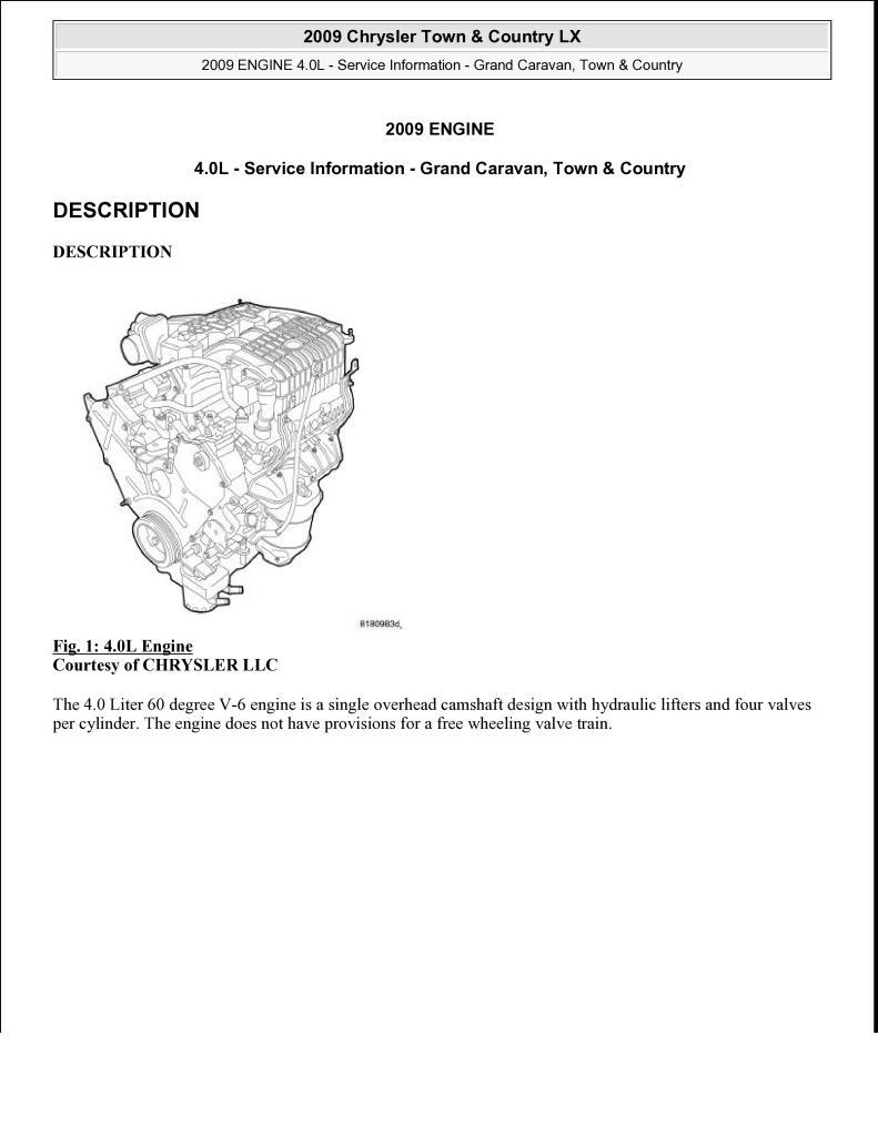 2009 Town Country 4 0l Engine Manual Pdf 9 2 Mb Repair Manuals English En